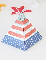 cheap -Bicone Shape Cardboard Paper Favor Holder with Pattern / Print Gift Boxes - 25