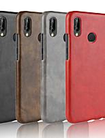 baratos -Capinha Para Huawei P20 Pro / P20 lite Áspero Capa traseira Sólido Rígida PU Leather para Huawei P20 / Huawei P20 Pro / Huawei P20 lite