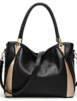 cheap -Women's Bags PU(Polyurethane) Shoulder Bag Zipper Black / Blushing Pink / Wine