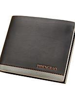 cheap -Men's Bags Leather Wallet Embossed Dark Brown