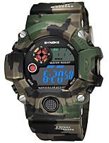Недорогие -SYNOKE Муж. Спортивные часы / электронные часы Календарь / Секундомер / Защита от влаги PU Группа Мода Синий / Красный / Зеленый / Хронометр / Фосфоресцирующий
