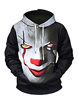 cheap -Men's Street chic / Exaggerated Hoodie - 3D / Portrait, Print