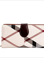 cheap -Women's Bags PVC(PolyVinyl Chloride) Wallet Pattern / Print Black / Almond / Wine