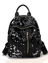 cheap -Women's Bags PU(Polyurethane) Backpack Sequin / Zipper Blue / Green / Black