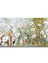 baratos -Pintura a Óleo Pintados à mão - Floral / Botânico Contemprâneo / Modern Tela de pintura