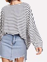 cheap -Women's Basic / Street chic T-shirt - Striped