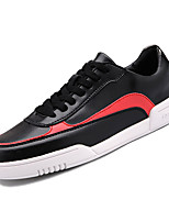 cheap -Men's Faux Leather / PU(Polyurethane) Fall Comfort Sneakers Color Block White / Black