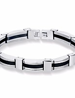 cheap -Men's Stylish Bracelet - Titanium Steel Peace, Courage Simple, Casual / Sporty, Fashion Bracelet Silver For Gift / Daily