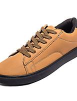 cheap -Men's Light Soles PU(Polyurethane) Spring Sneakers Black / Gray / Yellow