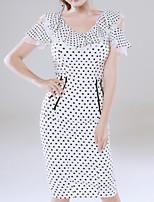 cheap -Women's Blouse - Polka Dot Skirt
