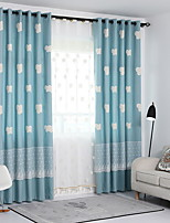 cheap -Kids Curtains Kids Room Geometric Cotton / Polyester Jacquard