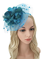 cheap -Women's Vintage / Elegant Headband / Hair Clip / Fascinator - Solid Colored Flower / Mesh