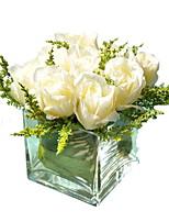 Недорогие -Искусственные Цветы 1 Филиал Односпальный комплект (Ш 150 x Д 200 см) Стиль Розы Букеты на стол