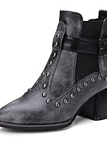 cheap -Women's Shoes PU(Polyurethane) Fall & Winter Fashion Boots Boots Chunky Heel Booties / Ankle Boots Black / Brown