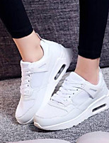 cheap -Women's Shoes Mesh Summer Comfort Sneakers Flat Heel Closed Toe White / Black / Red