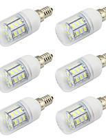 Недорогие -WeiXuan 6шт 4 W 350 lm E26 / E27 Круглые LED лампы 27 Светодиодные бусины SMD 5730 Декоративная Тёплый белый / Холодный белый 12-24 V
