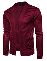 cheap -Men's Long Sleeve Cardigan - Solid Colored V Neck