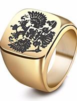 economico -Per uomo Alla moda Anello - Inossidabile Eagle Alla moda, Europeo 7 / 8 / 9 Oro / Nero / Argento Per Strada / Serata