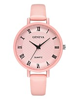 cheap -Geneva Women's Wrist Watch Chinese New Design / Casual Watch / Cool Leather Band Casual / Fashion Black / Blue / Pink