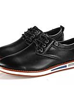 Недорогие -Муж. Полиуретан Лето Удобная обувь Кеды Черный