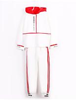 cheap -Kids Girls' Basic / Street chic Sports Print Embroidered / Print Long Sleeve Cotton Clothing Set