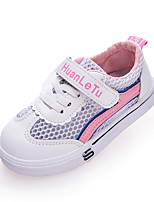 cheap -Girls' Shoes Mesh / PU(Polyurethane) Spring & Summer Comfort Sneakers Walking Shoes Magic Tape for Kids Red / Blue / Pink