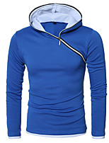 cheap -Men's Basic / Street chic Hoodie - Color Block