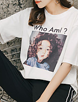 economico -T-shirt Per donna Attivo Con stampe, Fantasia geometrica