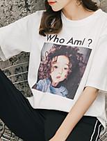 cheap -Women's Active T-shirt - Geometric Print