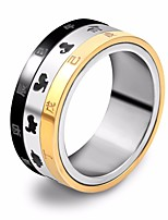 cheap -Men's Stylish Band Ring / Multi Finger Ring - Stainless Animal Stylish, Unique Design, Hip-Hop 7 / 8 / 9 Gold / Black For Street / Going out