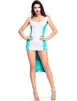abordables -The Little Mermaid / Cola de Sirena Disfrace de Cosplay Halloween / Carnaval Festival / Celebración Disfraces de Halloween Blanco Retazos / Sirena Antiguo Egipto