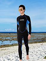 abordables -HISEA® Hombre Traje de neopreno completo 2.5mm Trajes de buceo Manga Larga Otoño / Verano