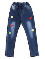 economico -Bambino Da ragazza Essenziale Fantasia floreale Cotone Jeans