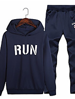 cheap -Men's Active Hoodie - Letter