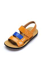 baratos -Para Meninos Sapatos Microfibra Verão Conforto Sandálias Velcro para Infantil Branco / Amarelo / Peep Toe