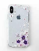 cheap -Case For Apple iPhone X / iPhone 8 DIY Back Cover Glitter Shine Soft TPU for iPhone X / iPhone 8 Plus / iPhone 8