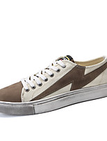 cheap -Men's Canvas Fall Comfort Sneakers Color Block Black / Khaki