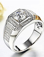 cheap -Men's 3D Ring - Imitation Diamond Stylish, Classic Adjustable Silver For Daily