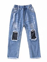 cheap -Kids Girls' Patchwork Jeans