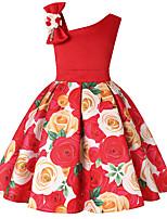 economico -Bambino / Bambino (1-4 anni) Da ragazza Tinta unita / Fantasia floreale / Monocolore Senza maniche Vestito