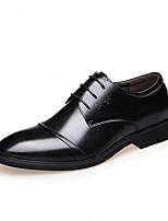 Недорогие -Муж. Полиуретан Осень Удобная обувь Туфли на шнуровке Черный / Коричневый / Для вечеринки / ужина