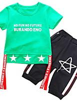 cheap -Toddler Boys' Geometric Short Sleeve Clothing Set