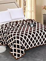 cheap -Coral fleece, Pigment Print Plaid / Check Cotton / Polyester Blankets