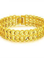 cheap -Men's Coin Chain Bracelet / Bracelet Bangles / Nugget Link Bracelet - Stainless Steel, Gold Plated Statement, Luxury, Fashion Bracelet Gold For Gift / New Year