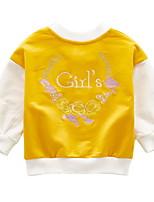 cheap -Kids Girls' Patchwork Long Sleeve Down & Cotton Padded