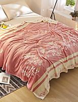 Недорогие -Коралловый флис / Супер мягкий, Активный краситель Цветочный принт / Геометрический принт Хлопок / полиэфир одеяла
