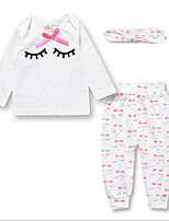 Недорогие -малыш Девочки Классический Однотонный Длинный рукав Набор одежды / Дети (1-4 лет)