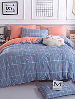 cheap -Duvet Cover Sets Stripes / Ripples Polyster Reactive Print 4 Piece