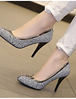 cheap -Women's Shoes Synthetics Spring & Summer Basic Pump Heels Stiletto Heel Pointed Toe Rhinestone Gold / Black / Light Grey / Party & Evening