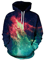 cheap -Men's Basic / Exaggerated Hoodie - 3D / Star, Print